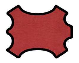 Peau d'agneau velours rouge pourpre