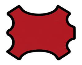 Peau de chèvre rouge