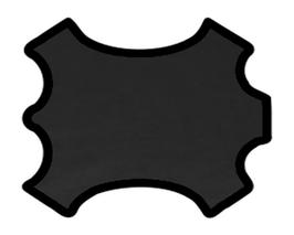 Demi peau de vachette noire authentique