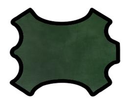 Demi peau de vachette vert sapin