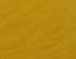 Morceau de cuir de vachette nubuck perforé jaune