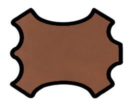 Demi peau de vachette nappa marron