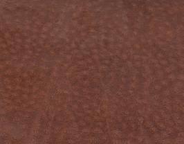 Morceau de cuir d'agneau marron gaufré