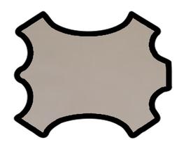 Demi peau de vachette beige