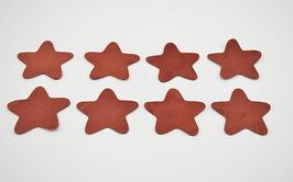 8 étoiles en cuir d'agneau rouille