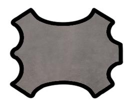 Peau d'agneau velours gris moyen