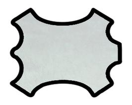 Peau d'agneau nappa argent métallisé