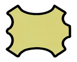 Peau d'agneau jaune pâle