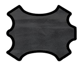 Peau d'agneau noir imprimé poisson