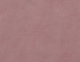 Coupon de cuir de vachette nubuck rose clair imprimé fleurs