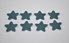 8 étoiles en cuir de veau turquoise foncé