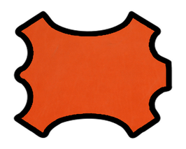 Demi peau de vachette nubuck orange