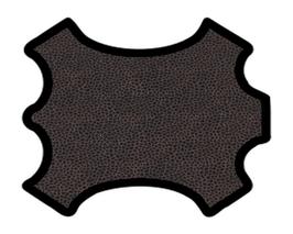 Peau d'agneau velours noir imprimé pailleté corail