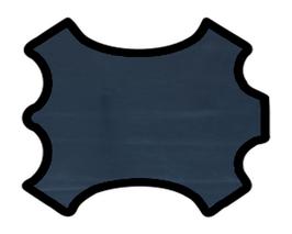 Peau de veau nappa bleu marine