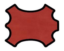 Demi peau de vachette nubuck rouge pourpre