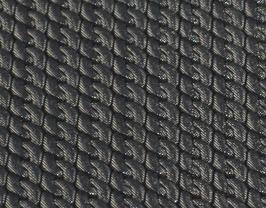 Coupon de cuir de vachette argenté imprimé chainette