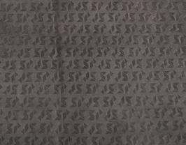Morceau de cuir de vachette nubuck marron imprimé