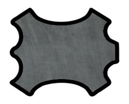 Demi peau de vachette grise