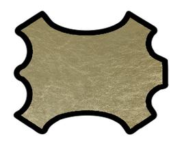 Peau d'agneau nappa doré clair