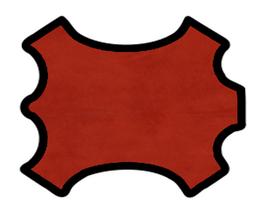 Peau de chèvre velours rouge brique