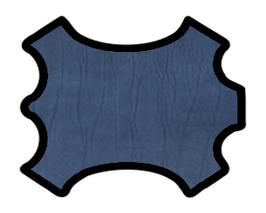 Demi peau de vachette bleu navy