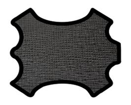 Peau de vachette imprimée noire