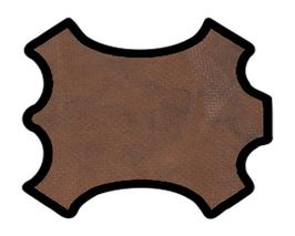 Peau de chèvre marron marbré perforé