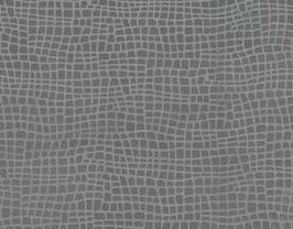 Morceau de cuir de vachette gris imprimé iguane