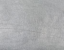 Coupon de cuir de veau argenté