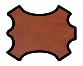 Demi croupon de vachette marron cuir tannage végétal