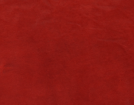 Morceau de cuir de vachette rouge imprimé lézard