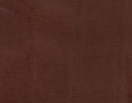 Morceau de cuir d'agneau marron imprimé lézard