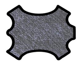 Peau de chèvre bleu métallisé imprimé python