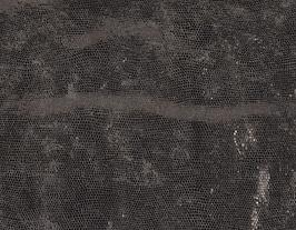 Morceau de cuir de vachette argenté imprimé serpent