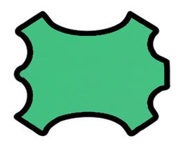 Peau de chèvre vert clair