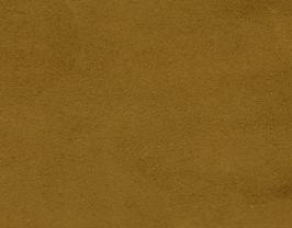 Coupon de cuir de veau velours moutarde foncé