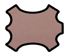Peau de mouton nappa rose pâle