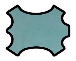 Peau de mouton nappa bleu azurin