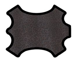 Peau de chèvre imprimée léopard
