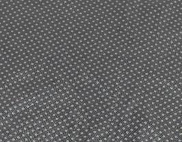 Morceau de cuir de vachette noir imprimé points argentés