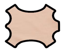 Peau d'agneau rose saumoné
