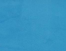 Coupon de cuir d'agneau velours bleu arctique