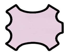 Peau d'agneau nappa rose glacé