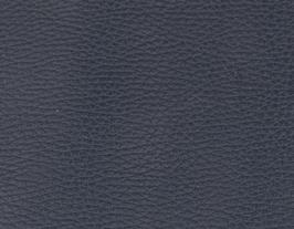 Coupon de cuir de vachette grainé bleu nuit