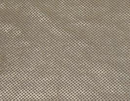 Morceau de cuir de vachette nubuck perforé doré