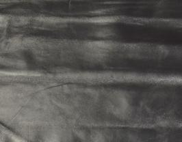 Morceau de cuir de mouton nappa argent antique
