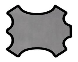 Peau de veau velours gris