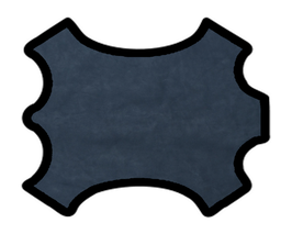 Demi peau de vachette nubuck bleu marine