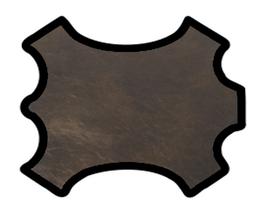 Demi peau de vachette doré foncé marbré