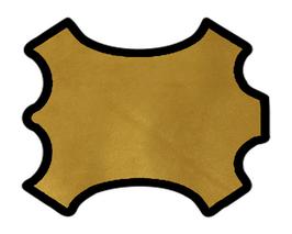 Peau d'agneau velours doré